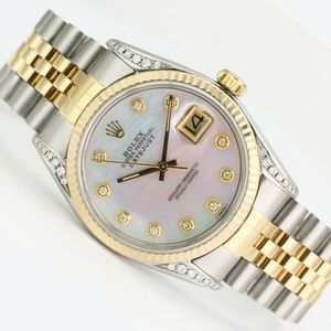 Rolex Datejust 16013 18k Gold and Steel White MOP